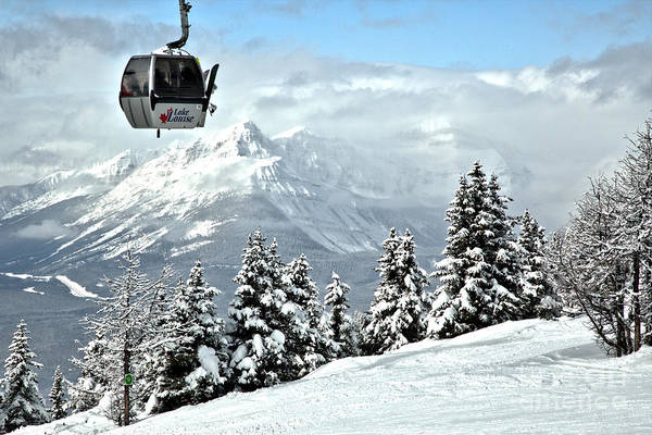 Photograph - Lake Louise Gondola In The Sky by Adam Jewell