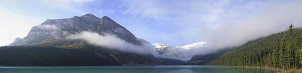 Wall Art - Photograph - Lake Louise In Morning Mist by Daniel Hagerman