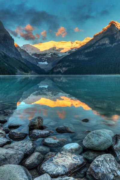 Photograph - Lake Louise Sunrise by Pierre Leclerc Photography