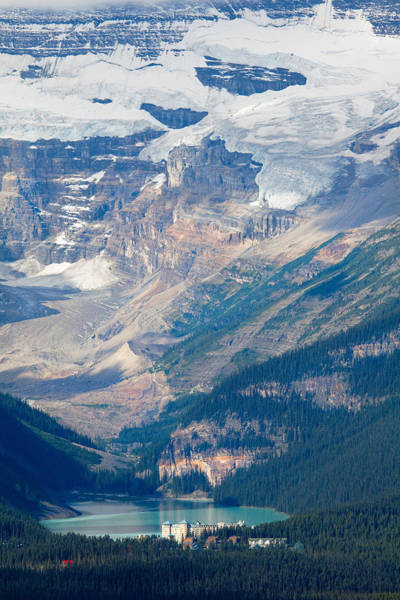 Banff Wall Art - Photograph - Lake Louise With The Victoria Glacier by George Oze