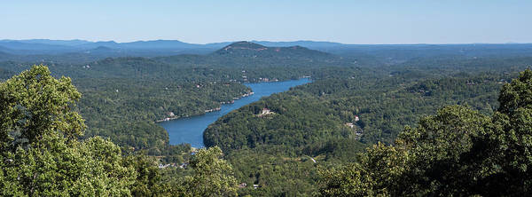 Photograph - Lake Lure North Carolina Panoramic by Terry DeLuco