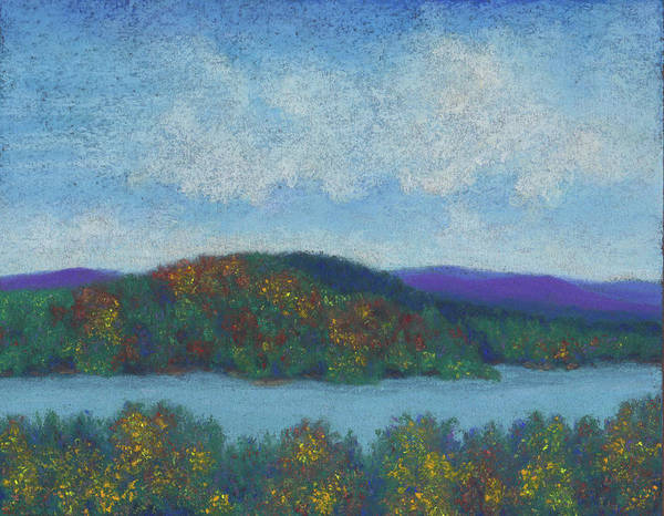 Pastel - Lake Mahkeenac by Anne Katzeff