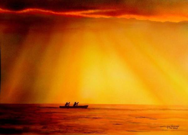 Painting - Lake Malawi by Tim Johnson