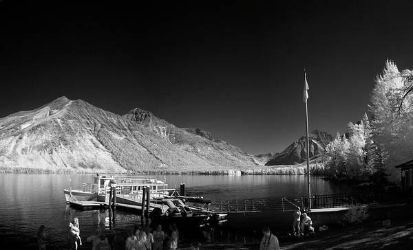 Photograph - Lake Mcdonald Boat Dock 2 by Lee Santa