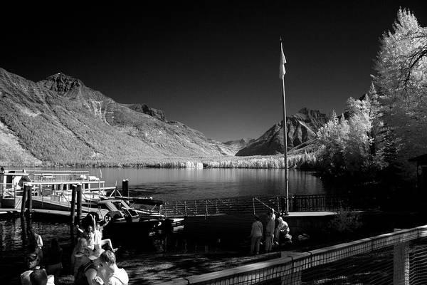 Photograph - Lake Mcdonald Boat Dock by Lee Santa