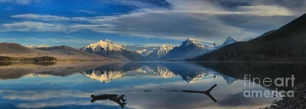 Photograph - Lake Mcdonald Driftwood Panorama by Adam Jewell