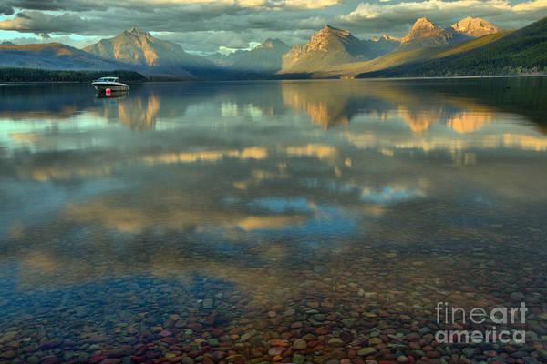 Photograph - Lake Mcdonald Fall Sunset by Adam Jewell