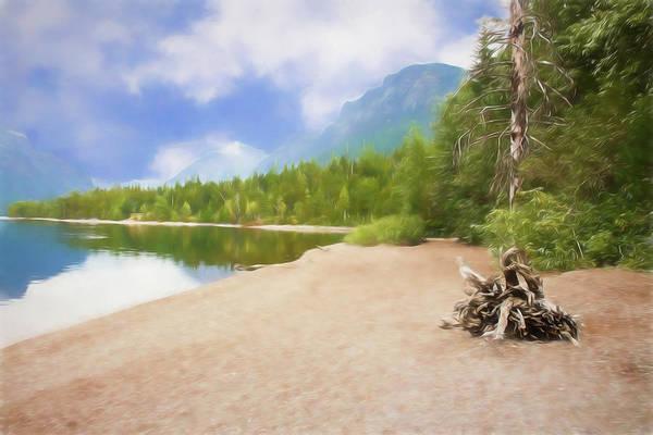 Digital Art - Lake Mcdonald In Glacier Nat. Park by Rusty R Smith