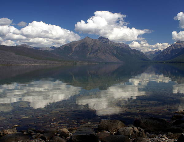 Lake Mcdonald Reflection Glacier National Park Art Print