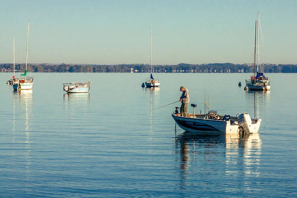 Angler Wall Art - Photograph - Lake Mendota Fishing by Todd Klassy