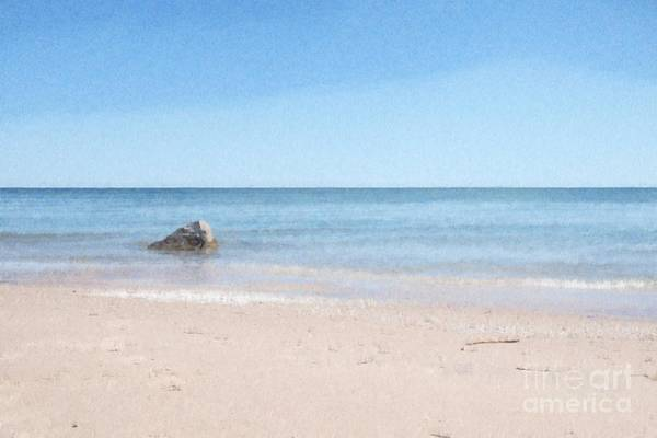 Photograph - Lake Michigan Abstract by Mary Machare