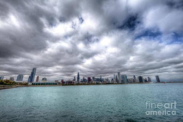 Photograph - Lake Michigan Chicago Skyline by Wayne Moran