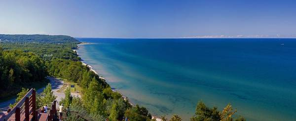 Lake Sunset Photograph - Lake Michigan From Arcadia Overlook by Twenty Two North Photography