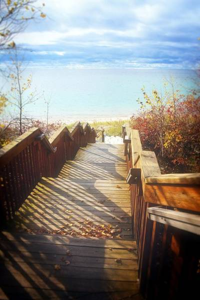 Photograph - Lake Michigan In The North by Michelle Calkins