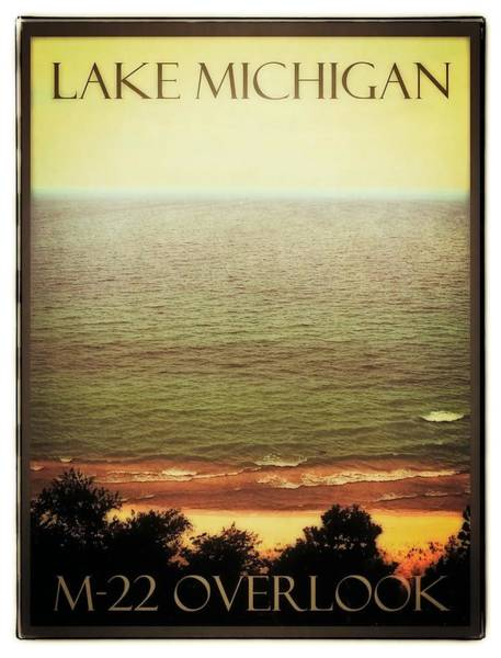 Digital Art - Lake Michigan M-22 Overlook by Michelle Calkins