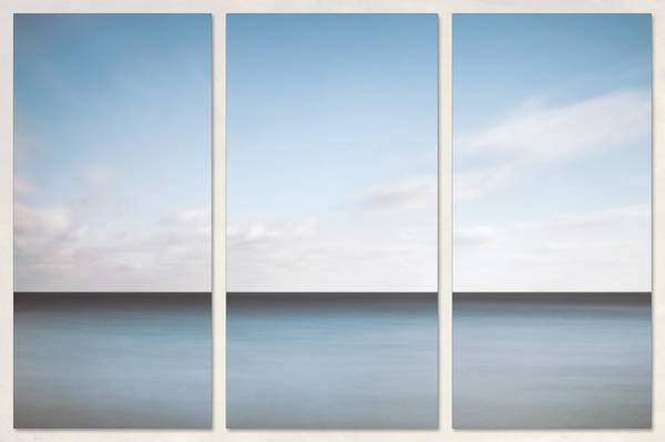 Wall Art - Photograph - Lake Michigan Minimalist Triptych by Scott Norris