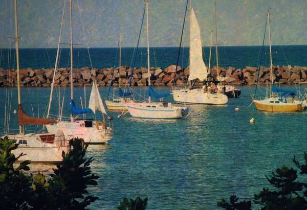 Photograph - Lake Michigan Sailboats by Mary Wolf