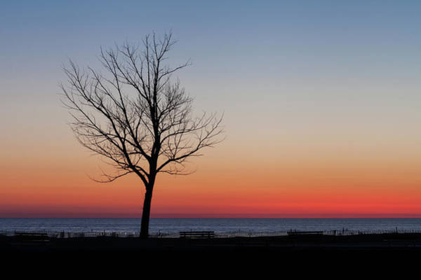 Photograph - Lake Michigan Silhouette by Fran Riley