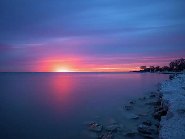 Photograph - Lake Michigan Sunrise by Brad Boland