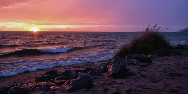 Wall Art - Photograph - Lake Michigan Sunset by Heather Kenward