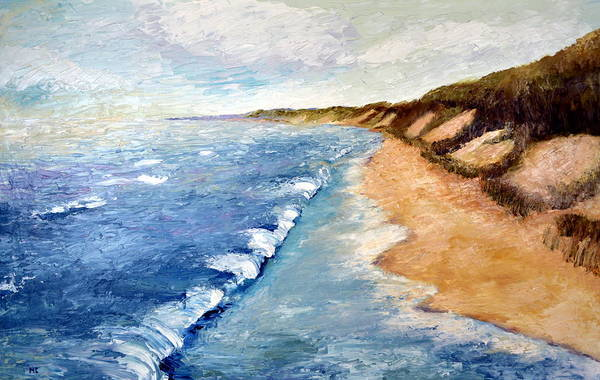 Wall Art - Painting - Lake Michigan With Whitecaps Ll by Michelle Calkins