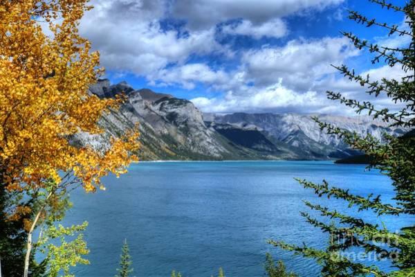 Photograph - Lake Minnewanka Banff National Park Alberta Canada by Wayne Moran