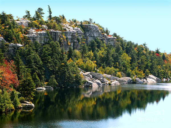 Photograph - Lake Minnewaska Reflection 2 Photograph by Kristen Fox
