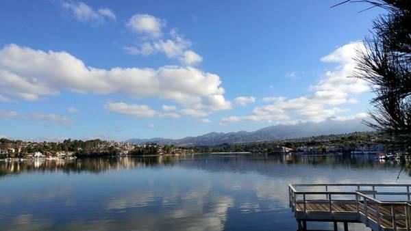 Mission Viejo Photograph - Lake Mission Viejo Cloud Reflections by Richard Yates