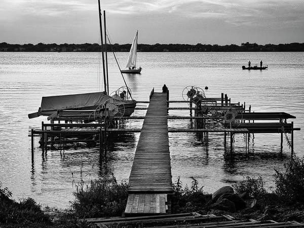Photograph - Lake Monona Jetty - Madison - Wisconsin by Steven Ralser
