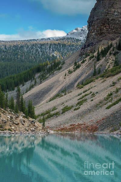 Lake Louise Wall Art - Photograph - Lake Moraine Angles by Mike Reid