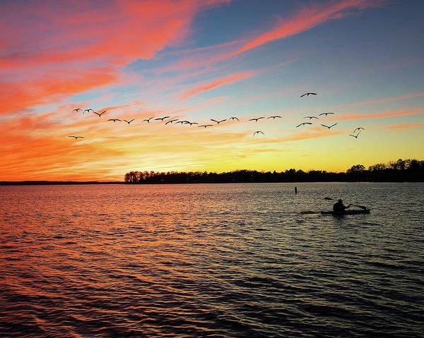 Lake Murray Fisherman Art Print