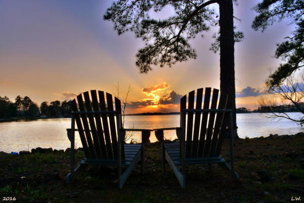 Wall Art - Photograph - Lake Murray Relaxation by Lisa Wooten