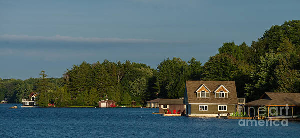 Photograph - Lake Muskoka Panorama by Les Palenik