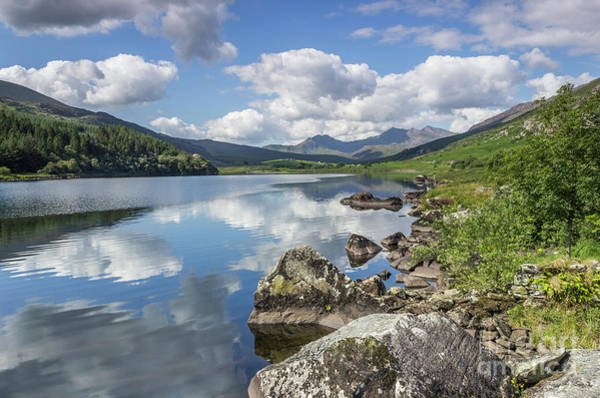 Photograph - Lake Mymbyr And Snowdon by Ian Mitchell