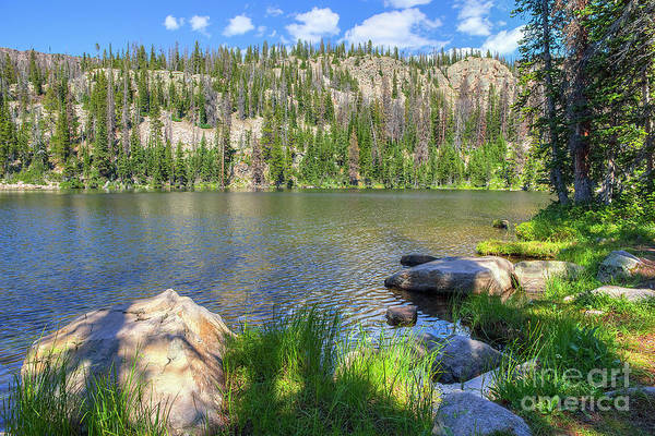 Photograph - Lake Near Cuberant by Spencer Baugh