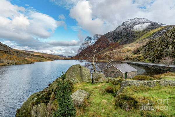 Wall Art - Photograph - Lake Ogwen And Tryfan Mountain by Adrian Evans