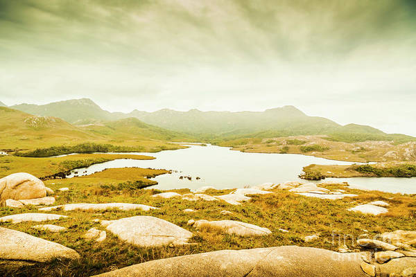 Mountain Range Photograph - Lake On A Mountain by Jorgo Photography - Wall Art Gallery