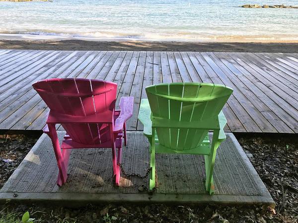 Photograph - Lake Ontario Beach Chairs by Matthew Bamberg
