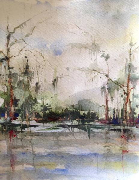 Lake Pontchartrain Yacht Club Mandeville Art Print