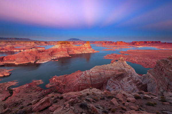 Photograph - Lake Powell Dusk Landscape by Johnny Adolphson