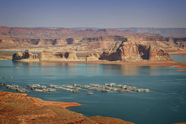 Wall Art - Photograph - Lake Powell Marina by Ricky Barnard