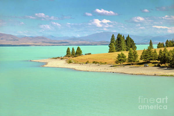 Glacial Photograph - Lake Pukaki New Zealand by Delphimages Photo Creations