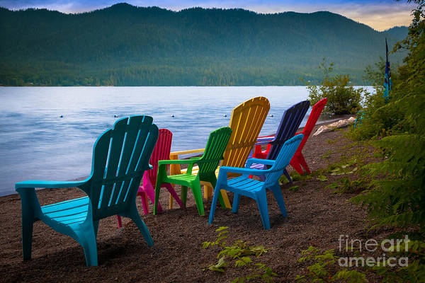 Olympic Peninsula Photograph - Lake Quinault Chairs by Inge Johnsson
