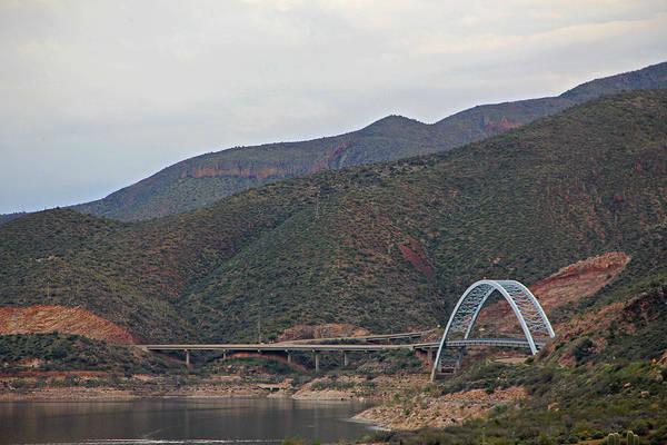 Photograph - Lake Roosevelt Bridge 2 by Matalyn Gardner