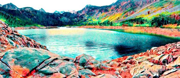 Digital Art - Lake Sabrina by Joe Lach