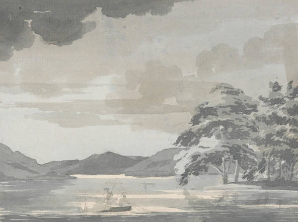 Drawing - Lake Scene by Paul Sandby