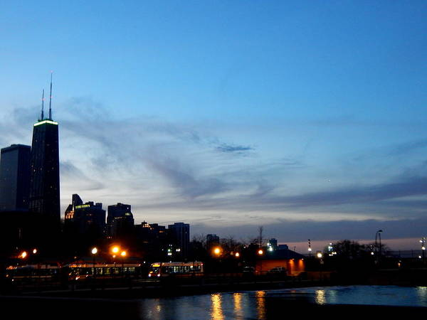Photograph - Lake Shore Drive At Sunset by Wild Thing
