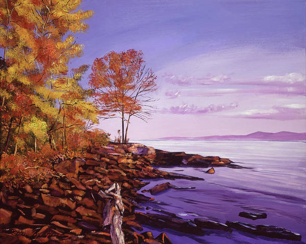 Painting - Lake Shore Evening by David Lloyd Glover