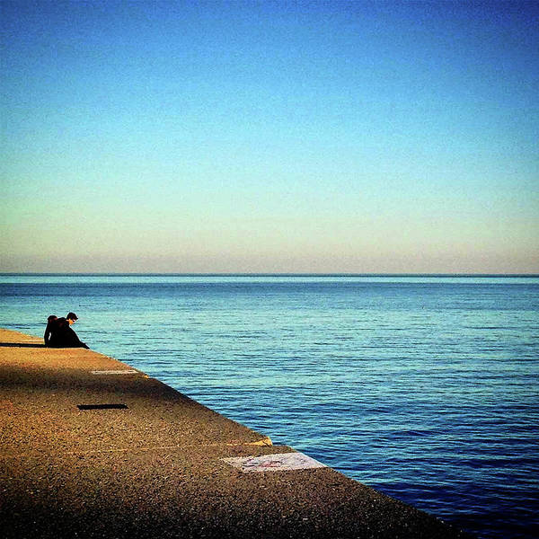 Photograph - Lake Shore Horizon Sunset by Patrick Malon