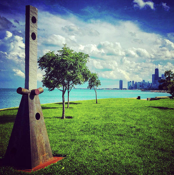 Photograph - Lake Shore Park Art Sculpture by Patrick Malon